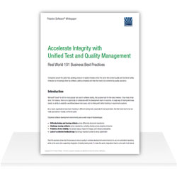 Download Whitepaper:Accelerate Integrity with Unified Test and Quality Management