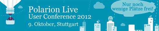 Nur noch wenige Plätze frei: Polarion Live – User Conference 2012  am 9. Oktober 2012 in Stuttgart