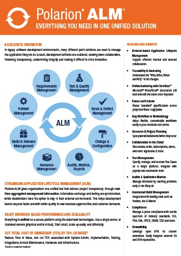 Polarion ALM Fact Sheet