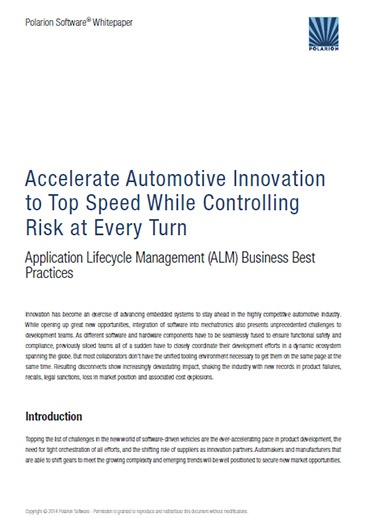 Whitepaper: Accelerate Automotive Innovation to Top Speed While Controlling Risk at Every Turn