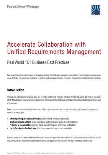 Whitepaper: Accelerate Collaboration with Unified Requirements Management