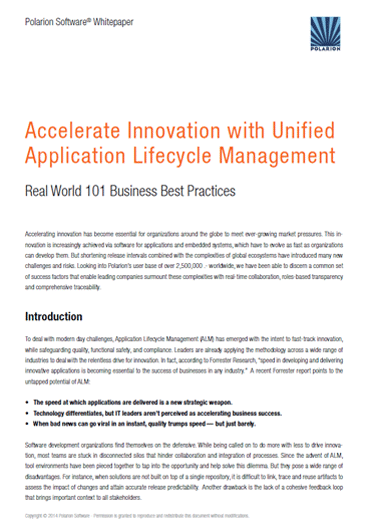 Whitepaper: Accelerate Innovation with Unified Application Lifecycle Management