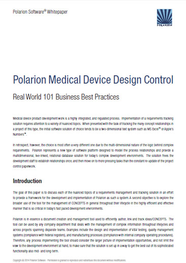 Whitepaper page - Polarion Medical Device Design Control
