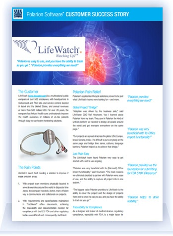 Polarion Customer Success Story: LifeWatch