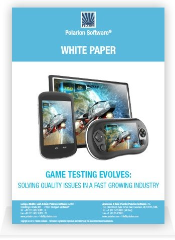 Whitepaper cover: Game Testing Evolves