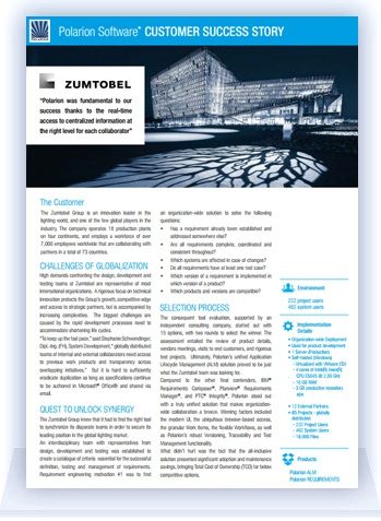 Customer Succes Story: Zumtobel Group